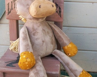 "MADE to ORDER Nutty Nag  ""Butterscoth Scottie""  Plush Horse"