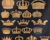 Crown Decals for Ceramic, Glass and Enamel