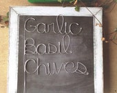 Custom Garden Markers - Custom Wire Garden Markers - Home and Garden Decor - Plant Stakes