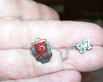 San Mateo CA College Park Jr. Hi Tiny Sterling Pin 1957 to Wear or Up-cycle