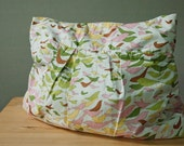 Purse or Project Bag with Colorful Bird Pattern