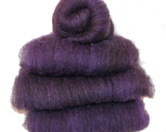 Shetland Black Amethyst Spinning Batts - 4 ounces