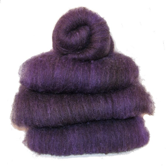 Shetland Black Amethyst Spinning Batts - 4 ounces