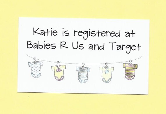 baby gift registry cards great for baby shower invitation enclosures