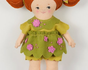 Easy Felt Doll pdf Pattern – Maisie - Instant Download