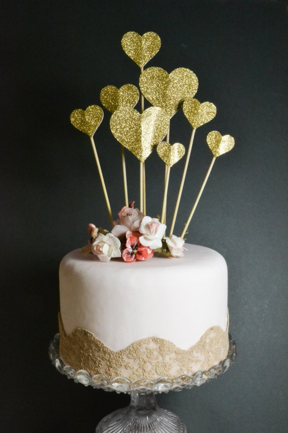 Personalized Sparkly Cake Toppers