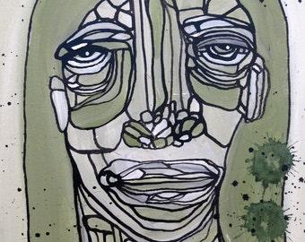 Abstract Painting Original Portrait Art by Julie Steiner