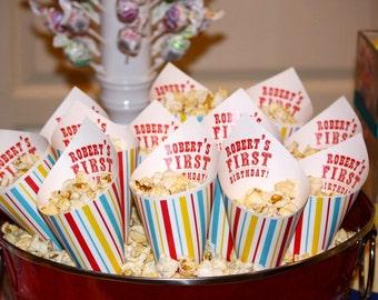 100 MINI Carnival Popcorn Cones Candy Cones Petal Cones Confetti Cones - By My Lady Dye