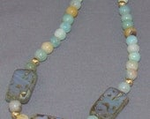Amazonite & Czech Glass Necklace