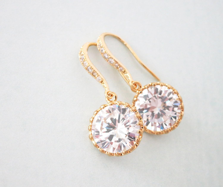 Pamela Simple Cubic Zirconia drop earrings diamond