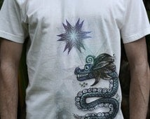 Males Fair Wear and Organic T-Shirt - Feathered Serpent