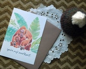 you're my sweetheart, orangutan card