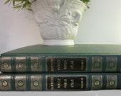 vintage 1963 Hammond Family World Atlas, Volume I and II, Gazetteer, Maps, green HC, oversized coffee table book, objet d'art