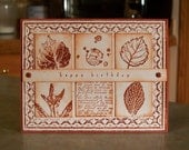 Fall Themed Birthday Card using Stampin' Up French Foliage & Gently Falling
