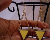 triangle gold earrings