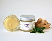Ginger Mint Foot Cream - an organic vegan warming tingly moisturizer for achy feet (2 oz glass jar)