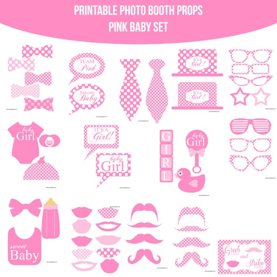 ... Baby Shower New Baby Girl Printable Photo Booth Props Photobooth Props