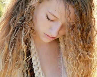 Brown Headband Crochet Headband Hair Accessories for Teens Womens Head Bands Tween Headband Hand Crocheted Items Tied Headband Comfortable