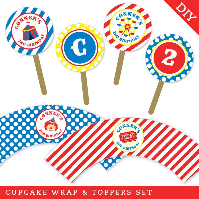 Carnival Themed Cupcake Wrappers Related Keywords & Suggestions ...