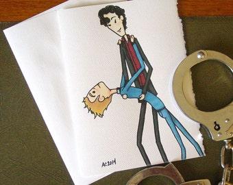 Sherlock Card - BBC Sherlock Holmes and John Watson - Learning to Dance