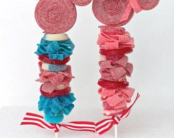 8 Mickey and Minnie Mouse Inspired Candy Kabobs
