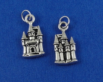 Medieval Castle Charm - Silver Plated Castle Charm for Necklace or Bracelet