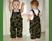 Baby Camouflage Overall, Buttons at legs for easy change - DoINSTANT DOWNLOAD Crochet Pattern