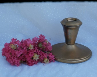 Candle Holder Chippy Flaky Gold Painted older vintage by W.S. Blackinton