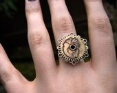 Anatomical Heart Ring - Steampunk Clock Gear Jewelry