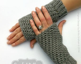 Fingerless Gloves Crochet Pattern No.915 Crochet Glove Pattern Quick and Easy Digital Download PDF