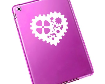 Steampunk Gear Heart Decal for Laptop Sticker for Car #666