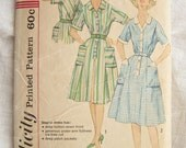 Simplicity 3772 Button Front 1960s Shirt Dress Vintage Sewing Pattern Bust 36