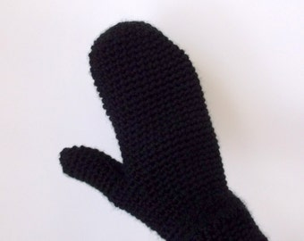 Crochet Mittens, Crochet Handwarmers, Handmade Medium or Large Mittens, Made to Order