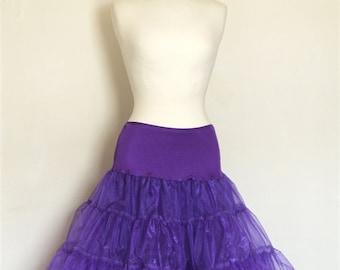 Purple Tulle Petticoat - Full Fifties Style - Underskirt - Prom - Full Petticoat - Party