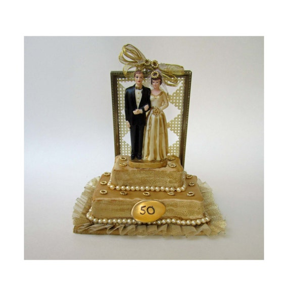50th anniversary wedding cake toppers 50th wedding anniversary cake topper or centerpiece 10436