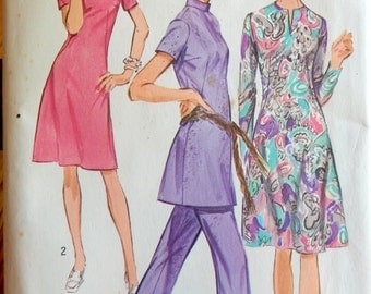 Vintage 1971 Pattern Simplicity 9503 Size 16 Bust 38 Waist 29 Miss