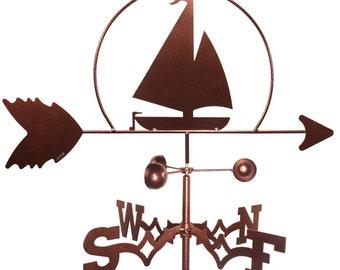 Hand Made Sailboat Nautical Weathervane NEW