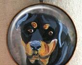 Rottweiler Keychain ~ Dog Owner Gift ~ Boyfriend Gift ~ Teacher Gift ~ February Birthday ~ Rottweiler