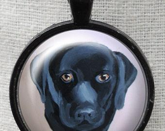 Black Lab Pendant ~ Original Art Necklace ~ Dog Necklace ~ Gifts for Pet Lover ~ Labrador Retr
