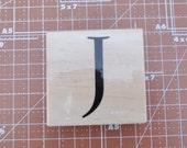 Uppercase J  Rubber Stamp