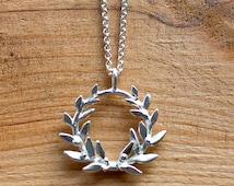 Wild Olive Wreath Pendant