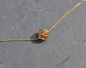 PETITE GOLD love Knot on Chain necklace, Gold filled love knot, 14k gold knot necklace, layering necklace