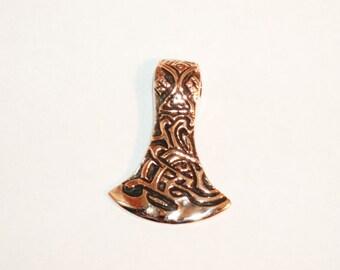 Viking axe pendant, bronze, Denmark