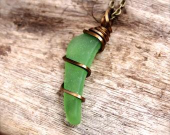 Sea Glass Jewelry by Mermaid Tears - Sea Glass Necklace - Seaglass Jewelry made in Hawaii - Sea Gypsy Necklace - Gypsy Boho Jewelry