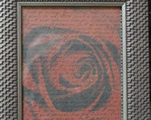 The Rose an 8 x 10 Framed Photo Collage