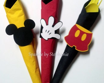 Napkin Rings - Mickey Mouse Head, Glove & Pant - Set of 12+