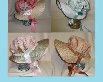 PDF epattern- Regency Bonnet Pattern Tutorial- Regency, Georgian, Jane Austen Era Bonnets