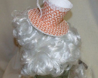 Teacup Fascinator- Orange with White Rabbits