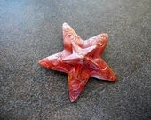 Rustic Copper Double Star Pendant Large Focal 44mm Night Sky
