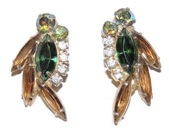 Vintage Juliana Rhinestone Earrings DE Designer Jewelry